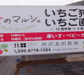 所沢北田農園「苺マルシュエ」さんに、おじゃましました。