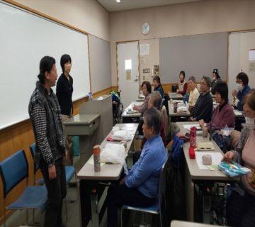 公益財団法人 日本編物手芸協会さまより障害者施設における物つくり(布ぞうり・刺し子ふきん等)の作業指導などに関する講演依頼を頂き、職員と利用者さんで出席してきました。
