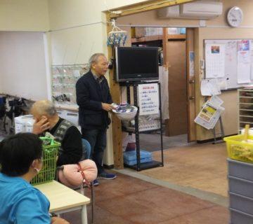 防災訓練の冒頭に齊藤理事長より、防災に関するお話をいただきました。