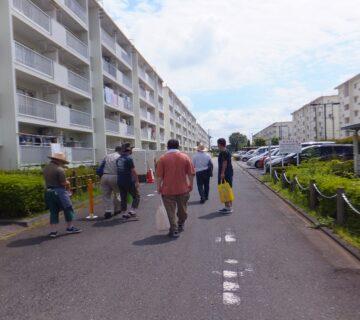 村山団地に隣接する上北台団地は、道を1本隔てて東大和市になります。村山団地同様に都営団地になります。